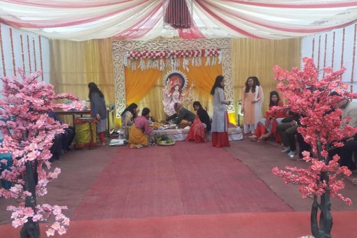 The ceremony to celebrate Saraswati Puja, 2020 at RDC&H Campus (0)
