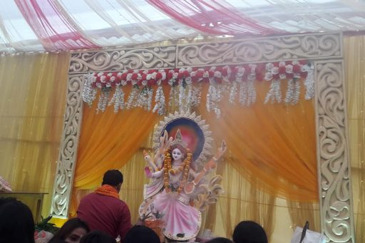 The ceremony to celebrate Saraswati Puja, 2020 at RDC&H Campus (8)