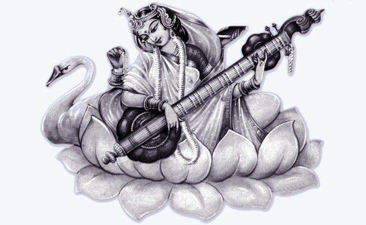 saraswati-black-white-maa at RDC