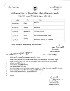 Exam Schedule of BDS Final Prof Exam August-2020 from 07 to 16 February 2021