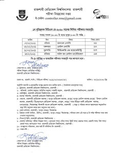 Exam Schedule of RDC 1st Prof Exam May-2020 in February 2021